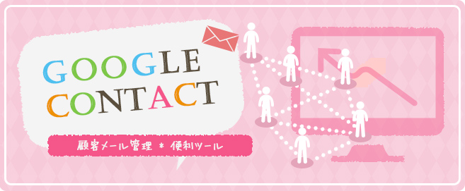 Google コンタクト メール管理の図